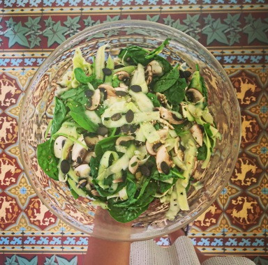 salade cru hypotoxique seignalet courgettes recette facile fibromyalgie guerir