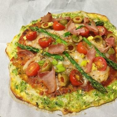 pizza pate sans farine brocoli paléo recette facile sans gluten regime fibromyalgie
