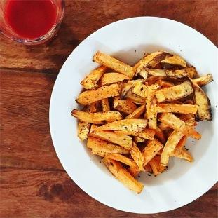 recette frites de patate douce sans huile sans gluten saine fibromyalgie seignalet