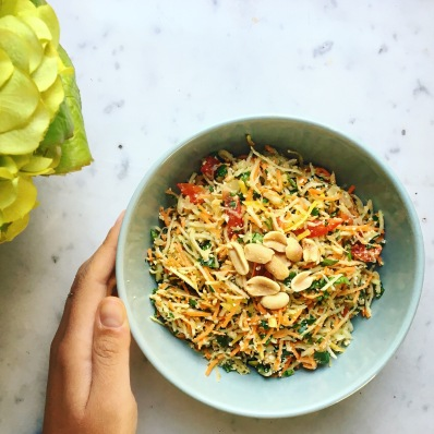 salade de papaye recette seignalet hypotoxique sans gluten vegan vegetarien